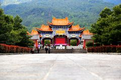 The Chong Sheng Temple located in the ancient city of Dali, Yunnan,China stock images