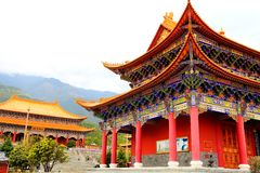 The Chong Sheng Temple located in the ancient city of Dali, Yunnan,China stock image