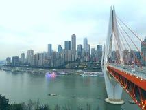 chongqing,bridge, changjiang, yangtz river royalty free stock photos