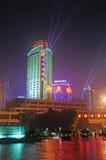chongqing σκηνή λιμένων νύχτας Στοκ Εικόνες