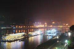 chongqing σκηνή λιμένων νύχτας Στοκ εικόνες με δικαίωμα ελεύθερης χρήσης