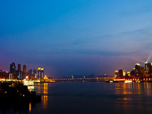 Chongqing τη νύχτα Στοκ Φωτογραφίες