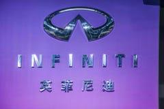 Chongqing Auto Show Infiniti series car logo Royalty Free Stock Image