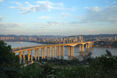 Chongqing Banan District Yudong Bridge Royalty Free Stock Images