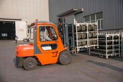 Chongqing Branch av gaffeltruckar för lagret för Minsheng logistikBaotou auto delar fungerar Royaltyfria Foton