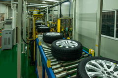 Chongqing Changan Minsheng Logistics Chongqing Branch automobile tire assembly line Stock Photography