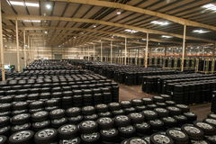 Chongqing Changan Minsheng Logistics Chongqing Branch automobile tire assembly line Stock Photos