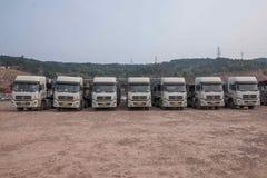 Chongqing Changan Minsheng Logistics Co , Ltd en Kerry Industrial Co heeft met Changan-Auto, Changan Ford Mazda, Changan Suzuki,  Royalty-vrije Stock Foto's