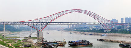 Chongqing Chaotianmen Bridge stock photos