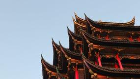 Chongqing, China, arquitectura china tradicional, pabell?n de la siete-historia fotos de archivo