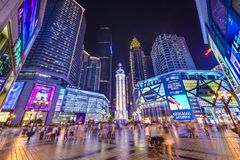 Chongqing, China City Square Stock Image