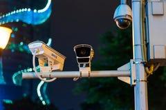 Free Chongqing, China - July 22, 2019: Surveillance CCTV Camera On The Street In Chongqing, China Stock Images - 164300884