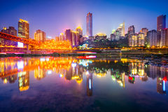 Chongqing China Skyline image stock