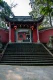 Chongqing City öst av brunnsortstaden av den Baisha templet Arkivbild