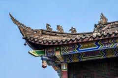 Chongqing City öst av brunnsortstaden av den Baisha templet Royaltyfria Foton