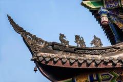 Chongqing City öst av brunnsortstaden av den Baisha templet Royaltyfri Foto