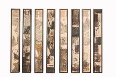 Chongqing City, östlich der Badekurortstadt des abstrakten Dreiergruppe Badekurort-Ausstellungsraums Stockbild