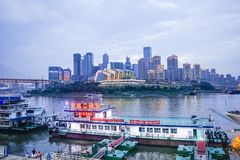 Chongqing harbor stock photo