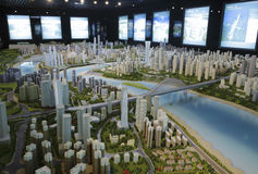 Chongqing city model Royalty Free Stock Image