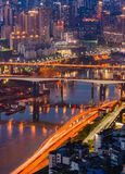 Chongqing City Night Light Stock Photography