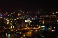 Chongqing City at Night Stock Photography