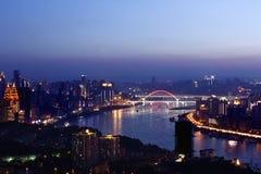 Chongqing City at Night Stock Image