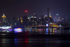 Chongqing City at Night Royalty Free Stock Photos