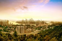 Chongqing city skyline Royalty Free Stock Photography