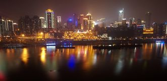 Chongqing city skyline at night Stock Image