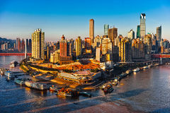 Chongqing city in sunrise Stock Photos