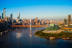 Chongqing city in sunset Royalty Free Stock Photos