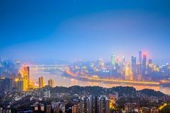 Chongqing, Cityscape van China royalty-vrije stock afbeelding