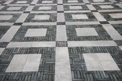 Chongqing Dadukou District Park cobblestone pavement pattern Royalty Free Stock Image