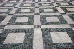 Chongqing Dadukou District Park-het patroon van de keibestrating Royalty-vrije Stock Afbeelding