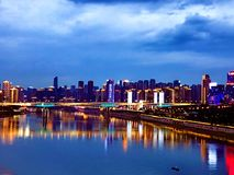 Chongqing night view by river royalty free stock photography