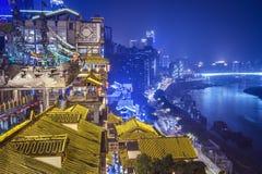 Chongqing en Hongyadong imagen de archivo