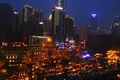Chongqing en Hongyadong Imágenes de archivo libres de regalías