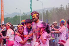 Chongqing Exhibition Center color run in young people Royalty Free Stock Photos
