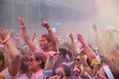 Chongqing Exhibition Center-kleur in jongeren in werking dat wordt gesteld dat Stock Foto's