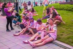 Chongqing Exhibition Center-kleur in jongeren in werking dat wordt gesteld dat Royalty-vrije Stock Afbeelding