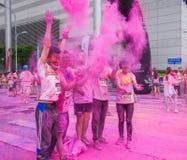 Chongqing Exhibition Center-kleur in jongeren in werking dat wordt gesteld dat Royalty-vrije Stock Fotografie