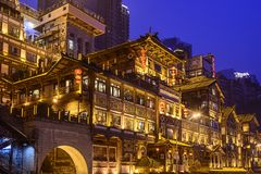 Chongqing at Hongyadong Royalty Free Stock Photos