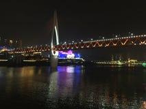Chongqing Hongyadong near the night stock image