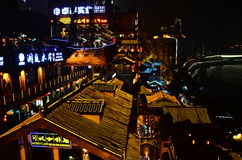 Chongqing Hongyadong at Night Stock Images