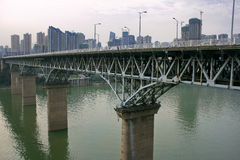 Chongqing Jialing River Bridge Royalty Free Stock Image