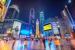 Chongqing at Jiefangbei Stock Image