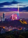 Chongqing miasta nocy linia horyzontu obraz royalty free