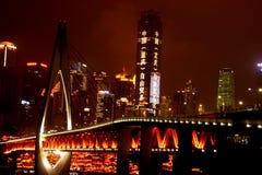 Chongqing Millennium Bridge stockfotos