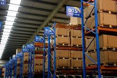 Chongqing Minsheng Logistics Auto Parts-Lager lizenzfreie stockbilder