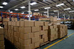 Chongqing Minsheng Logistics Auto Parts Warehouse Stock Images
